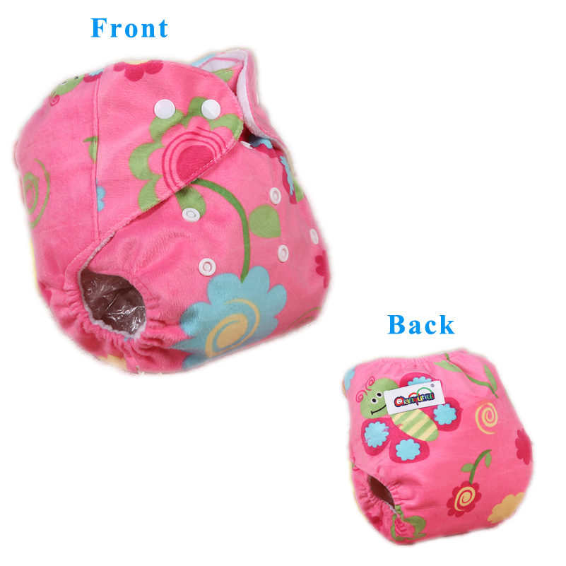 All In One Cloth Diaper Warm Fleece Thicken Winter Nappy Cover Waterproof Diapers 3-14KG Reusable Cloth Diapers for Child