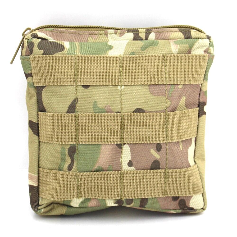 Prix pour 6*6 pouces Militaire Molle De Poche De L'armée Sports de Plein Air Sac Pack Extérieure Utilitaire Sac À Main Médicale First Aid Pouch CP Camo
