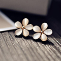 Five Flower Earrings Cute Korean Fashion Jewelry Earrings For Women Free Shipping Brincos Boucle d'oreille XY-E390