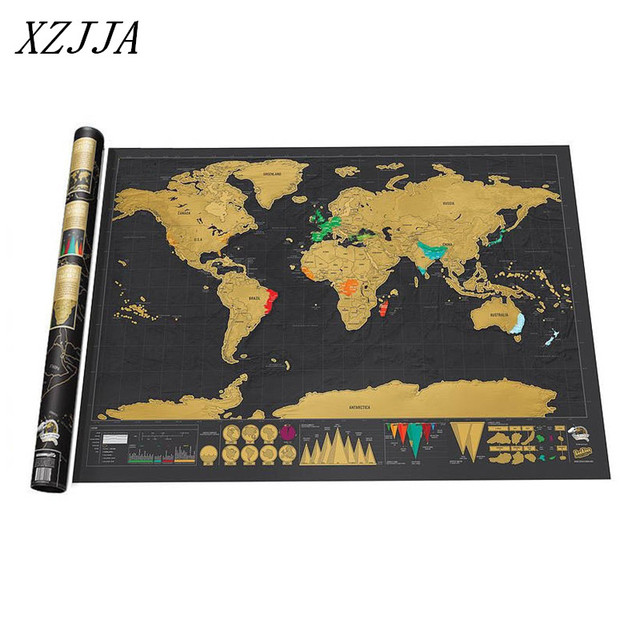 Scratch map world map wall sticker black gold travel edition scratch map world map wall sticker black gold travel edition individuation map poster wall poster home publicscrutiny Image collections
