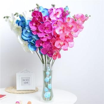1 pièces fleurs artificielles orchidée