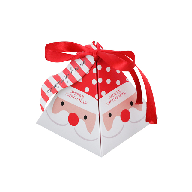 10 PCS/Set Merry Christmas Candy Box Bag Christmas Tree Gift Box With Bells Paper Box Gift Bag Container Supplies Navidad 3