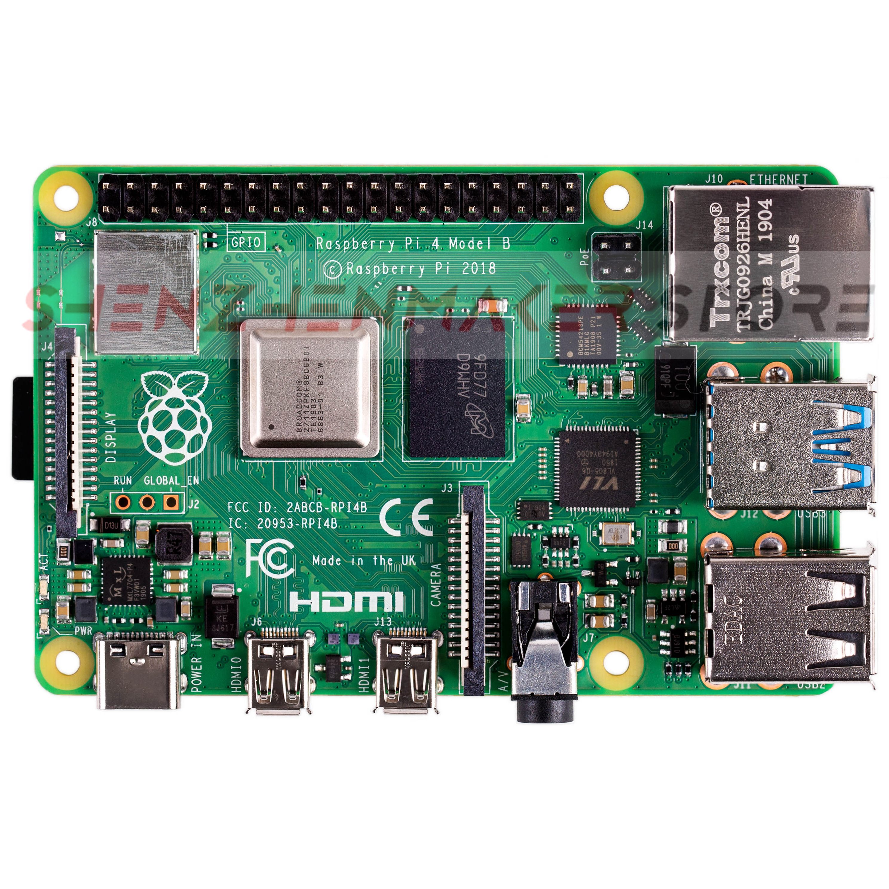 Image 2 - ShenzhenMaker Store Brand new Raspberry Pi 4 Model B 1GB 2GB 4GB RAM Type C Port Computer   IN STOCK-in 3D Printing Materials from Computer & Office