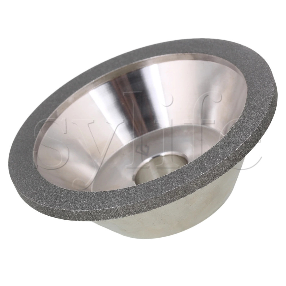цены Silver Bowl-shaped Diamond Grinding Wheel Cup Grit 320 Dia 100mm Grinder Cutter