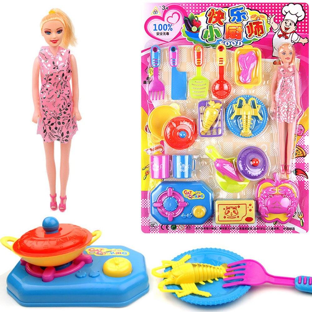 Un Ensemble Cuisine Salle À Manger Barbie Poupée Jouet Enfants DIY - Jeux de barbie cuisine