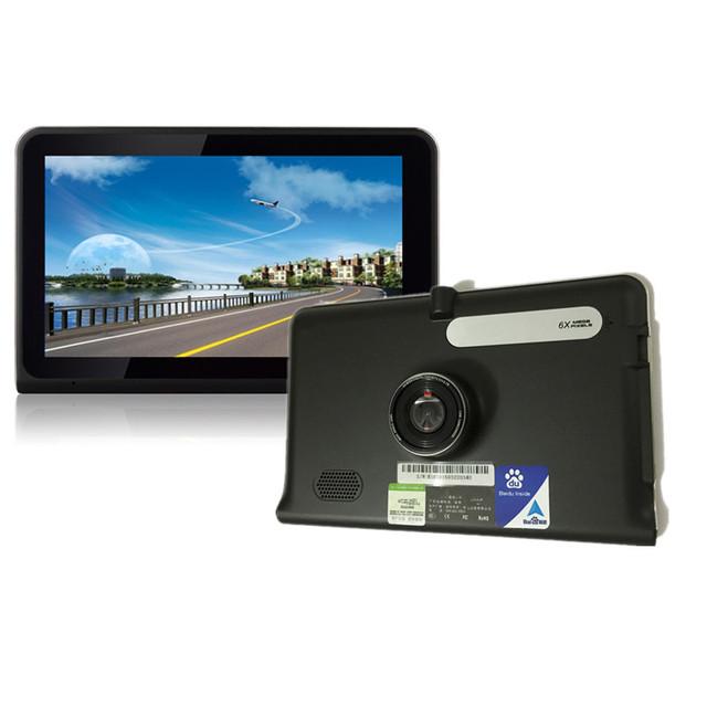 7 pulgadas de Navegación GPS Android WiFi GPS Grabadora de Vídeo DVR Allwinner A33 Quad Core 16 GB WiFi Internet Tablet Pad Estilo Mapa Gratuito