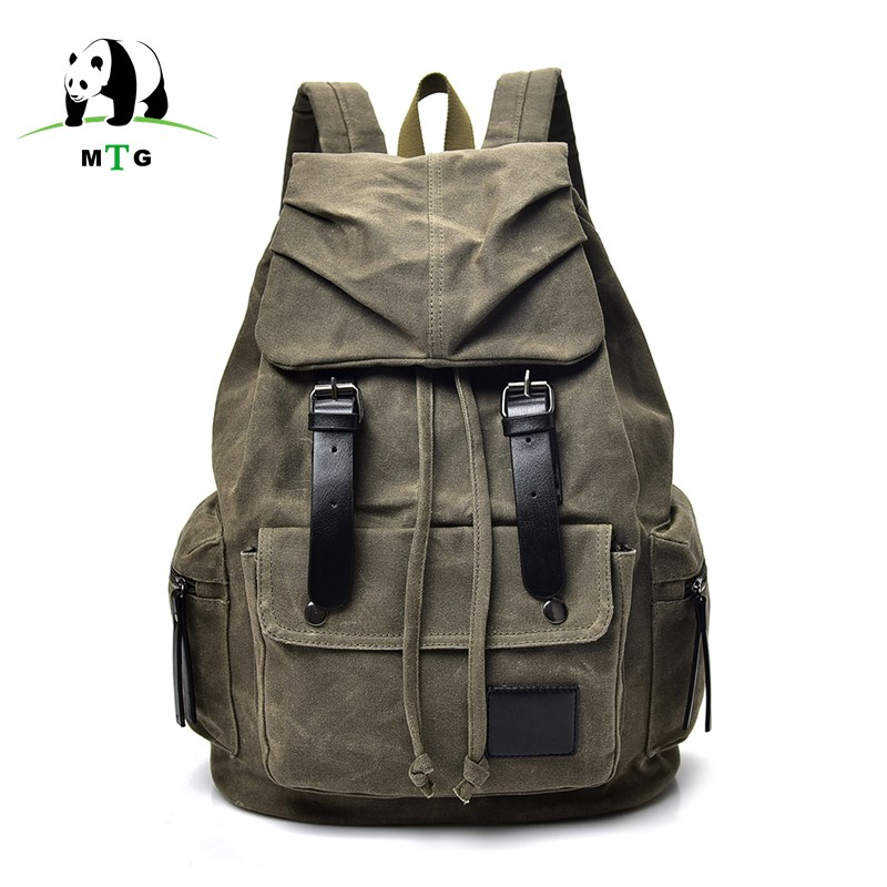 купить MTG New Fashion Backpack Casual Men Male Backpacks Men Fashion Travel Bags Vintage School Laptop Bag Brand Canvas Rucksack Men's онлайн