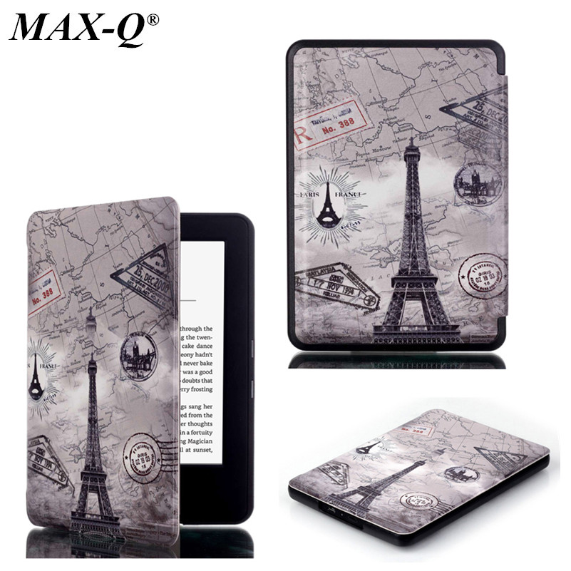 MAX-Q Magnetic Auto Sleep Printed Folio PU Leather Case For 2016 NEW Amazon Kindle Oasis Case 6 inch Ereader ebook Wake Up Case