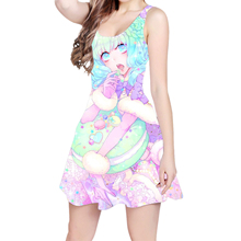 fdd2e07939e6e Buy woman dog print dress and get free shipping on AliExpress.com