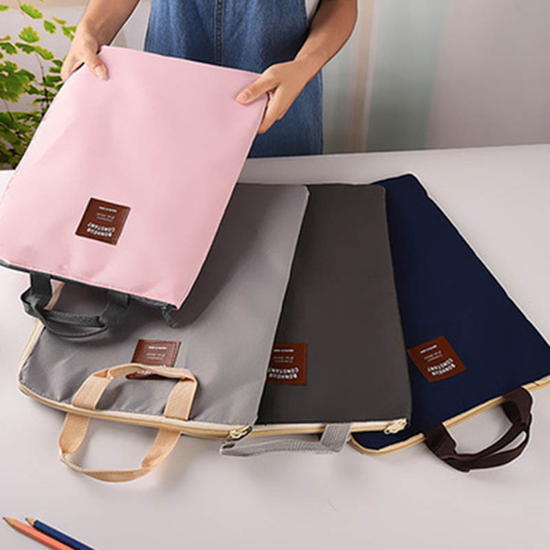 1 PC Document Filing Bag Stationery Pouch Large Capacity Laptop Bags Briefcase Multifunc ...