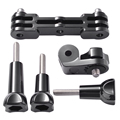 Dual Bracket Mount + DV Mini Joint Adapter Screws for GoPro Hero 5 Camera OS834+