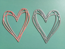 Layered Heart Metal Cutting Dies for Card Making