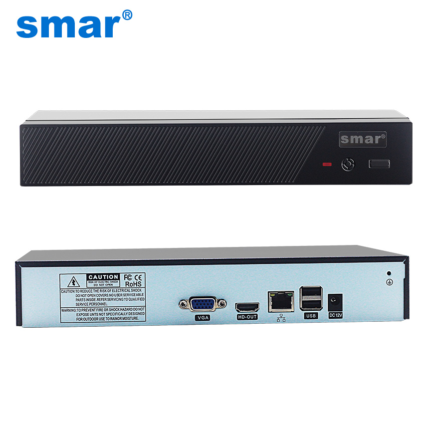 Smar Newest H 265 Max 4K Output CCTV NVR 16CH 5MP 8CH 4MP 4CH 5MP Security