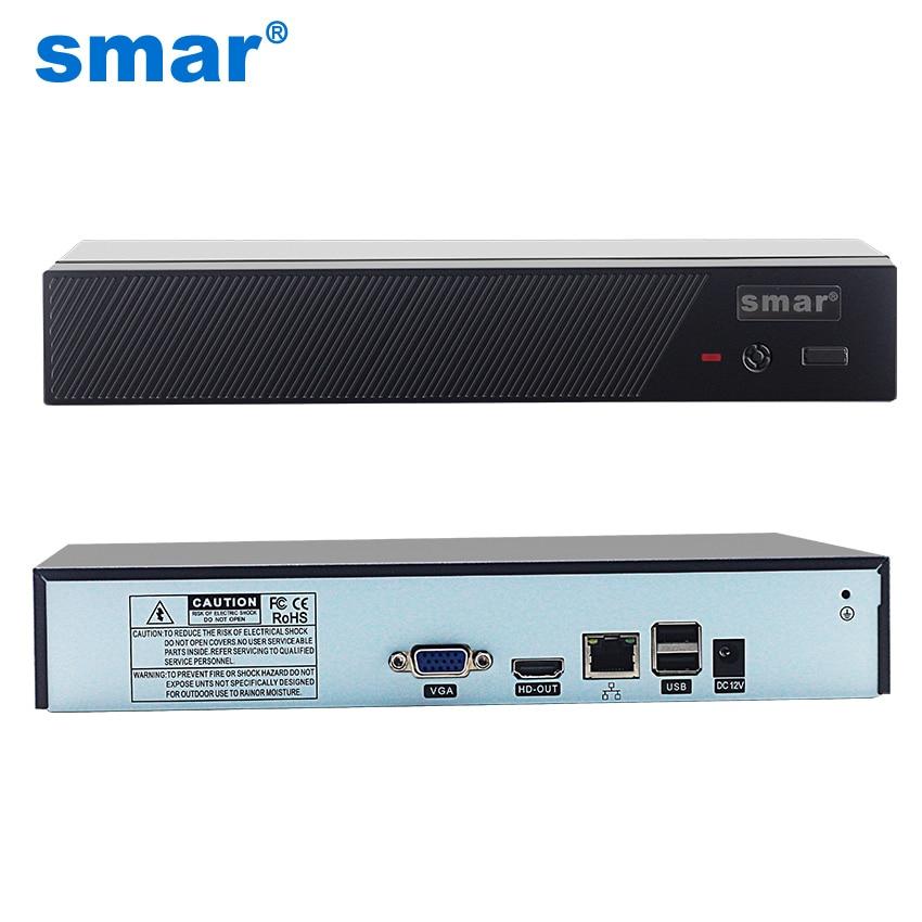 Smar новые H.265 Max 4 К Выход CCTV NVR 16CH 5MP/8CH 4MP/4CH 5MP безопасности Видео Регистраторы ONVIF xmeye P2P почтовое аварийное