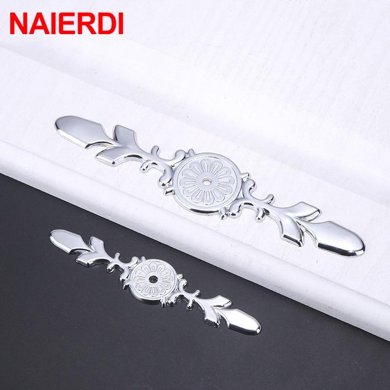 NAIERDI Luxury Diamond Crystal Cabinet Handles Shoebox Handles Closet Door Drawer Knobs Wardrobe Pulls Pullers Furniture Handle in Cabinet Pulls from Home Improvement