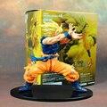 Аниме Dragon Ball Z Сон Гоку Супер Саян ПВХ Фигурку Коллекционная Модель Игрушки 17 СМ