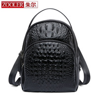 ZOOLER Korean Cowhide Leather Crocodile Women S Backpack High Quality Bussiness Travel Rucksack For Teenager Laptop