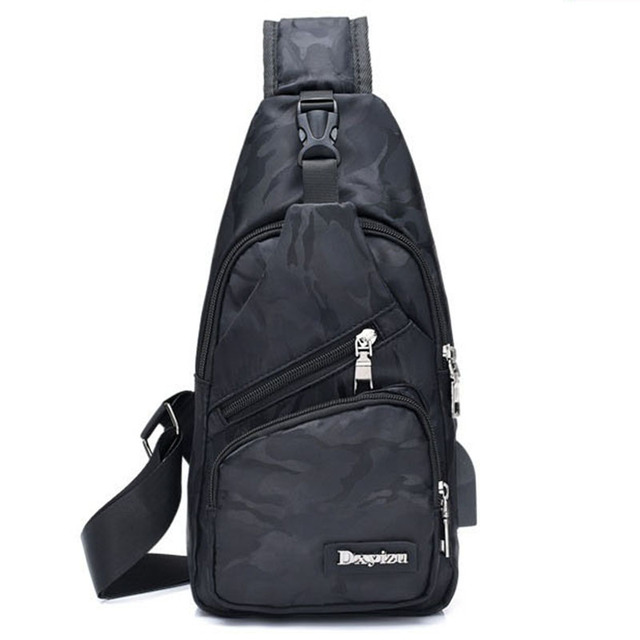 New Sling Backpack Bag Man Chest Pack Men Sling Strap Bags Casual Travel  Fanny Flap Male f77dd3464127c