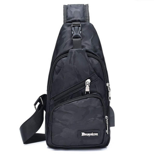 New Sling Backpack Bag Man Chest Pack Men Strap Bags Casual Travel Flap Male