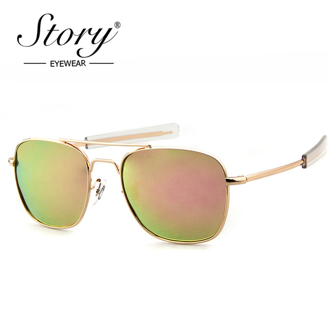 STORY Polarized Sunglasses Men AO Brand Designer Army Military Pilot Sunglasses  American Optical Sun Glasses For Male Oculos e0258598a4
