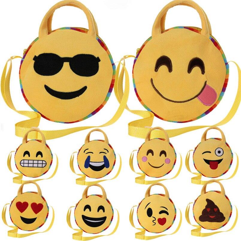 2018 Heißer Verkauf Taschen Nette Emoji Emoticon Schulter Schule Kind Tasche Handtasche Satchel Rucksack Handtasche Torebki Damskie Tc
