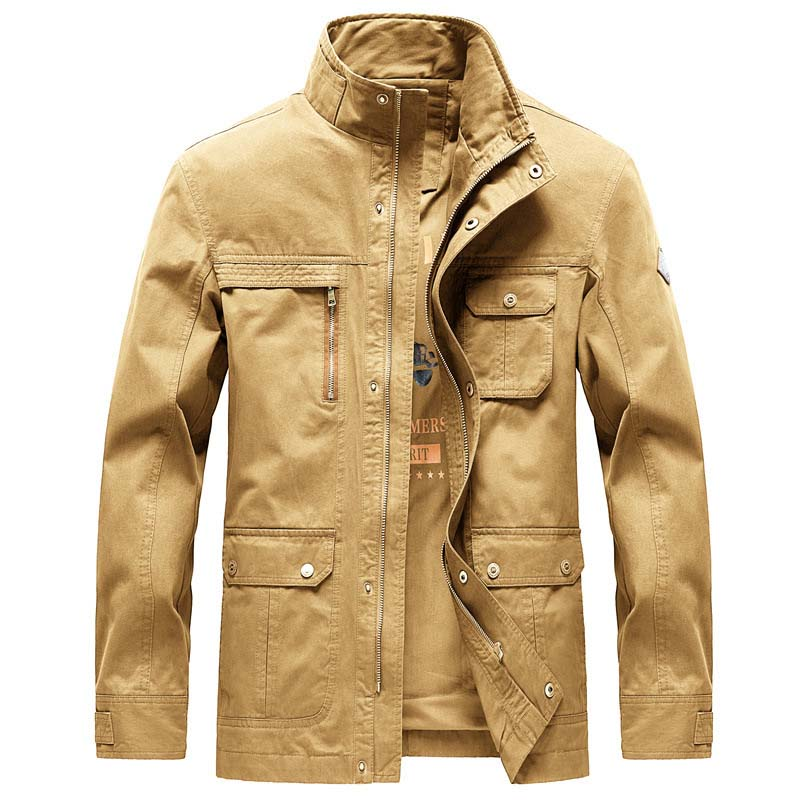 Autumn Winter Military Cotton Jacket Men Casual Coat with Big Pocket OUTWEAR Windbreaker Male Clothes