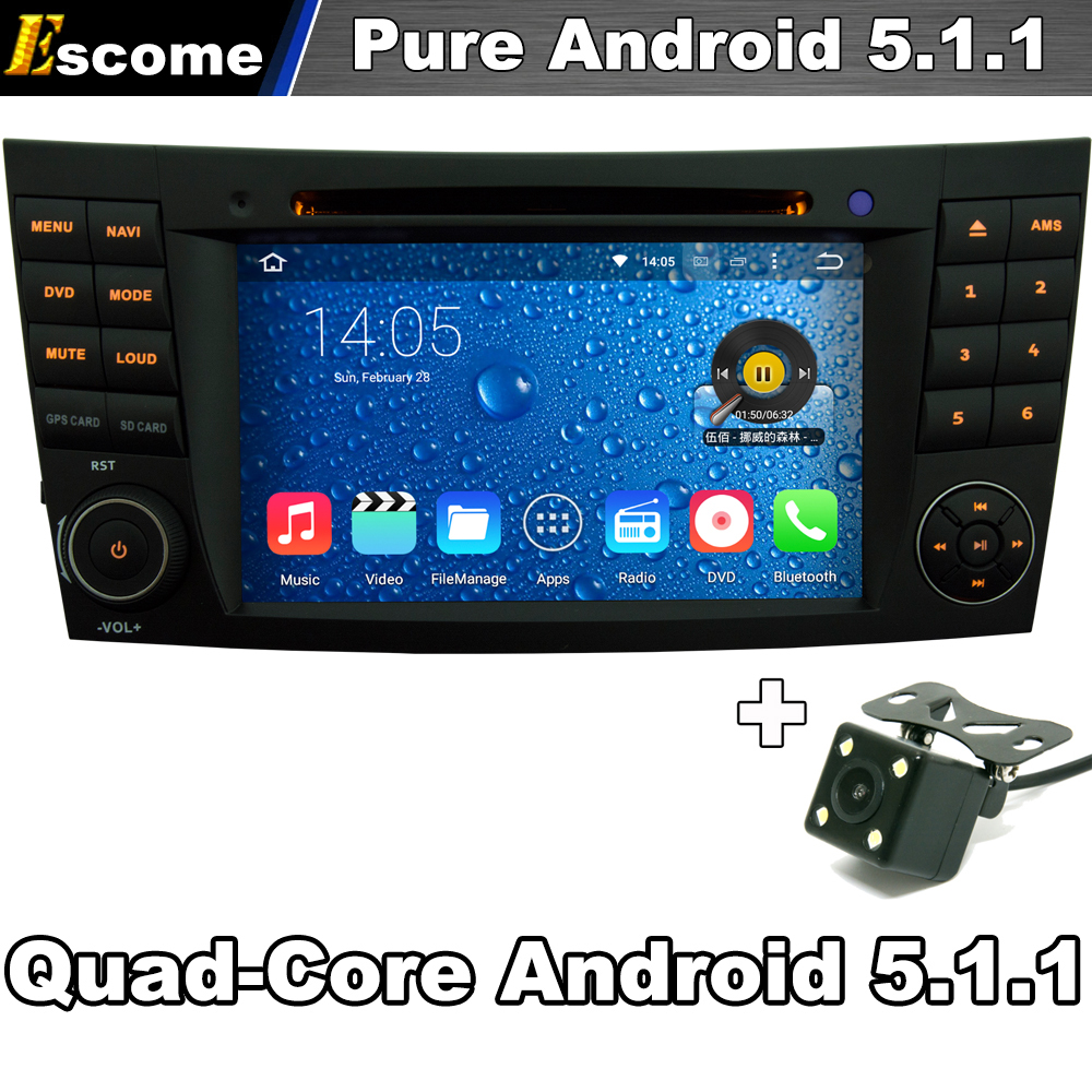 Чистая Android 5.1.1 Автомобильный DVD Для Mercedes Benz E Class W211 CLS Class E280 3 Г Wi-Fi GPS Радио Заднего вида камера