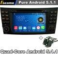 5.1.1 puro Android DVD Do Carro Para Mercedes Benz Classe E W211 E280 CLS Class 3G Wifi GPS Rádio Retrovisor câmera