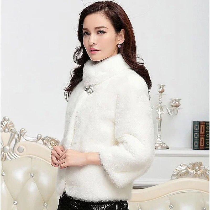 La White Manteaux En black Fourrure Luxe Plus Vison Manteau Survêtement Zadorin Blanc Haute Taille Noir Bontjas D'hiver Femmes Court De Qualité Fausse Rqntnx7