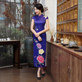 2017 Limited Chinese Qipao Tavas Store Retro Long Dress Cheongsam Show Improved Wind Stage Catwalk Slit Banquet Etiquette Skirt