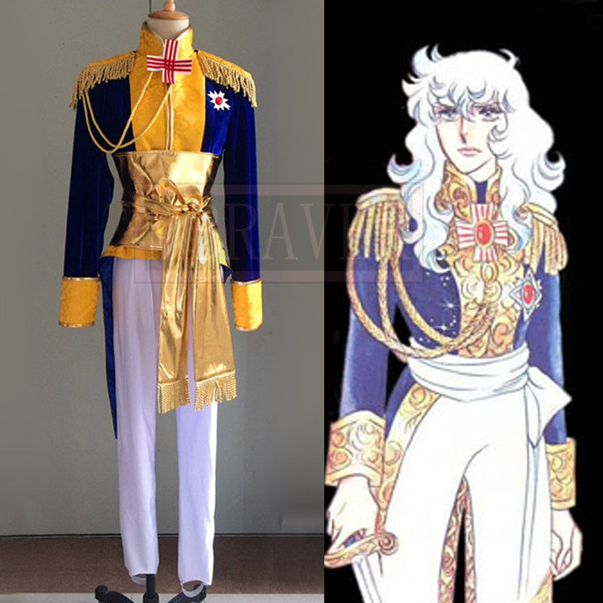 The Rose of Versailles Manga Edition Oscar Guard Team Uniforms Cosplay Costume