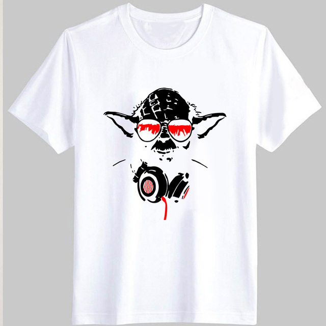 Outlet Locations Discount Sale Online Mens Dj Yoda Cool Printed Round Collar Short Sleeve T-Shirt Star Wars Outlet Professional Cheap Cheap Online vaLCOpP