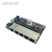 Ethernet коммутатор модуль 5 портов unmanager 10/100/1000 Мбит/с промышленный PCBA плата OEM Авто зондирования порты PCBA плата OEM материнская плата