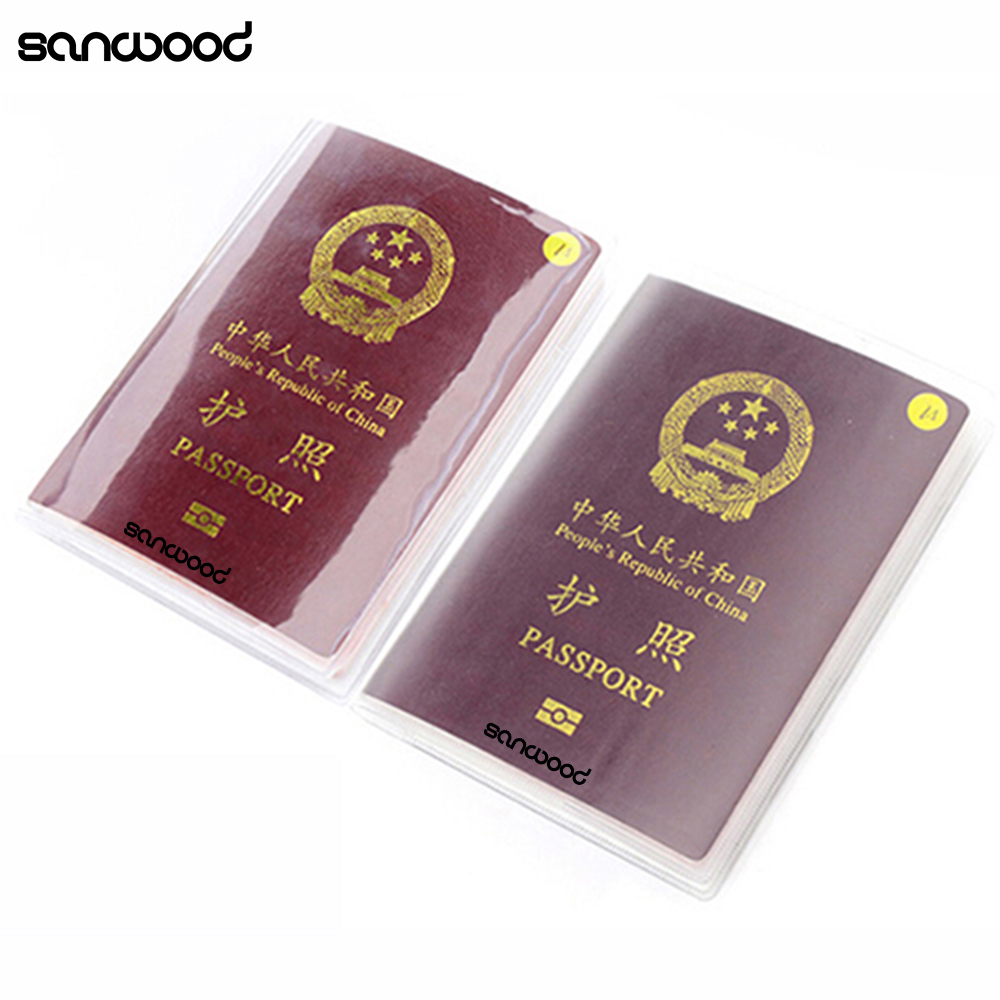 2016 Solid Unisex Business Transparent Passport Cridit Card & ID Card Holder Travel Protector Cover Case 9IFJ dedicated nice travel passport case id card cover holder protector organizer super quality card holder