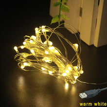 Safety voltage USB 5V 20 LED Waterproof Copper wire fairy led lights string graland Christmas New year holiday decorative