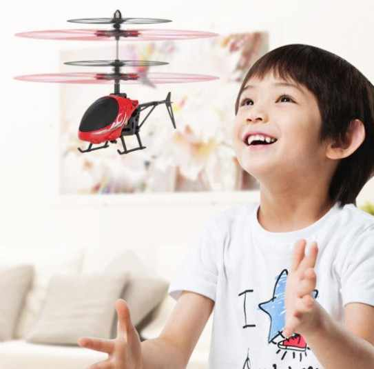 Flying Helicopter Mini RC Infraed Induction Aircraft Quadcopter Upgrade Hot High Quality RC Drone Flashing Light Toys For Kids