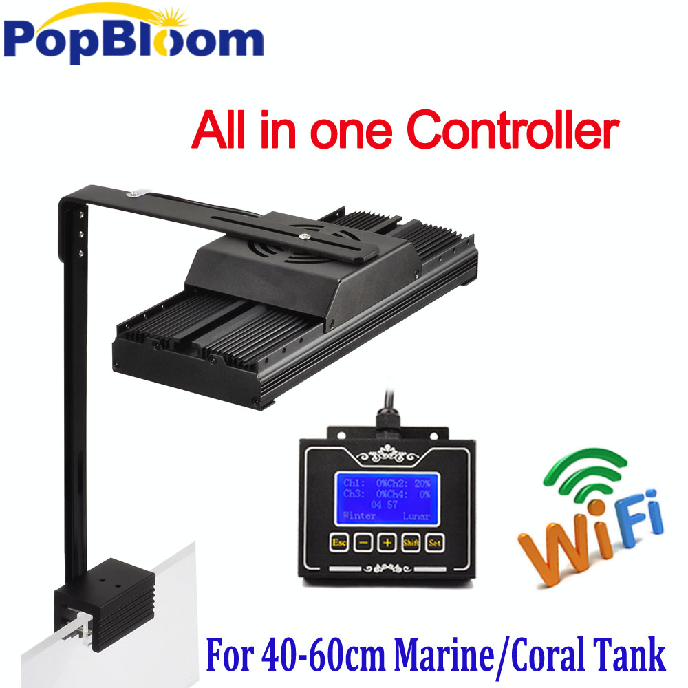 PopBloom Marine Led Aquarium Lighting Dimmable Coral Led Fish Sps Lps Chihiros lighting Fish Tank Lamp