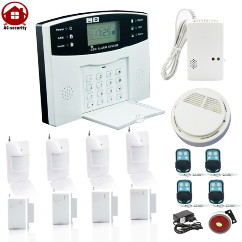 Ag Security Gsm Wireless Pir Home Security Burglar Alarm Systems Auto Dialing Dialer Sms Call