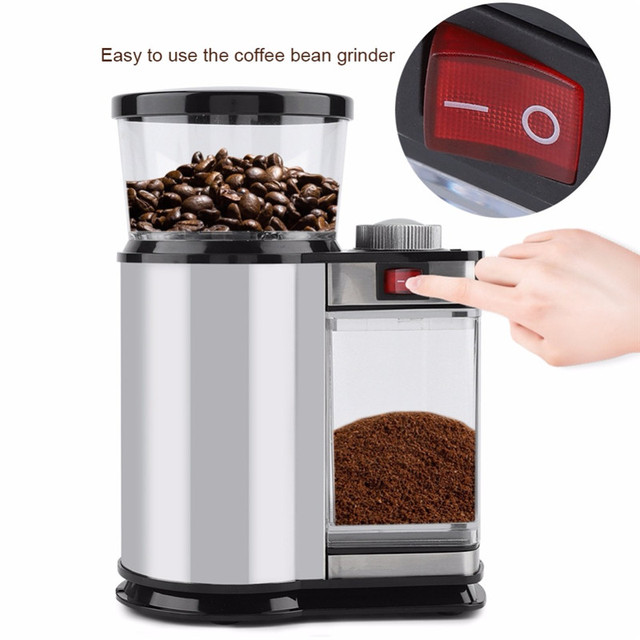 Electric Coffee Grinder Mill Herbs Nuts Salt Pepper Grinder Powerful Spice Seeds Manual Handmade Coffee Bean Home Kitchen Tool 1