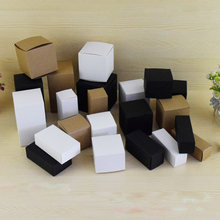 Packing-Boxes Candle Kraft-Paper Gift-Box White/black 50pcs for Cosmetic-Bottle/valves-Tubes