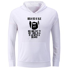 iDzn Women's Hoodies Beard Rule Behind Every Hot Girl Is A Man With A Beard Sweatshirts Female Tops Cotton Jackets Winter Coats