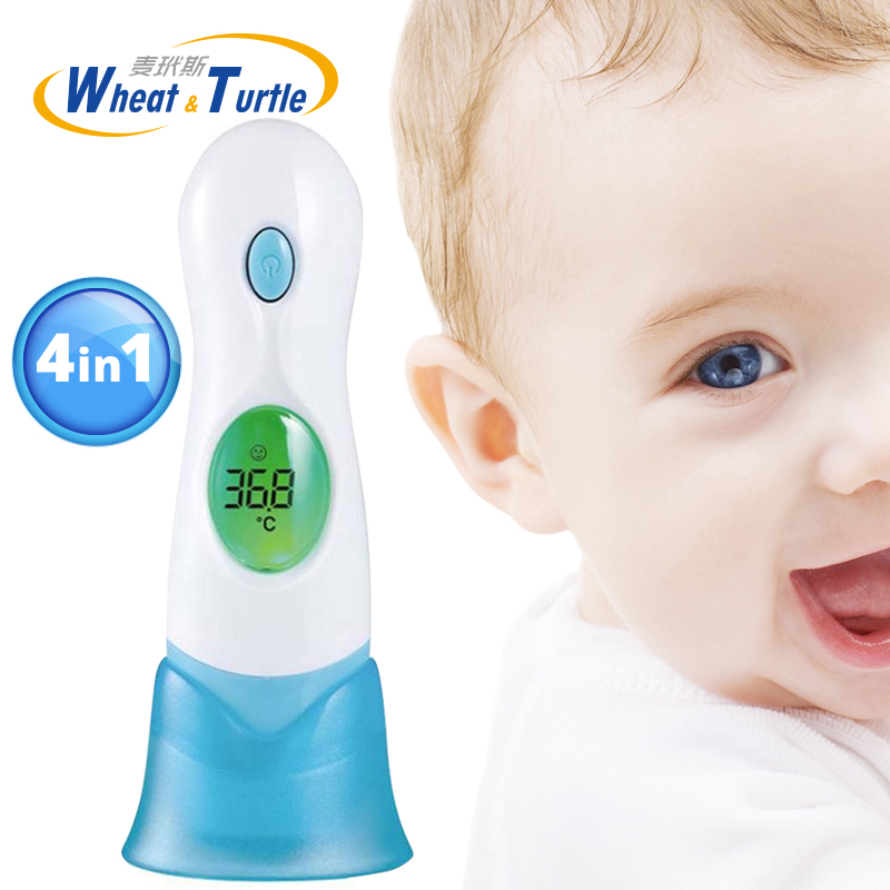 Baby Thermometer Lcd Digital Health Care Medical Fever Thermometer Non Contact Body 4 In 1 Multifunctional Infrared Thermometer in Thermometers from Mother Kids