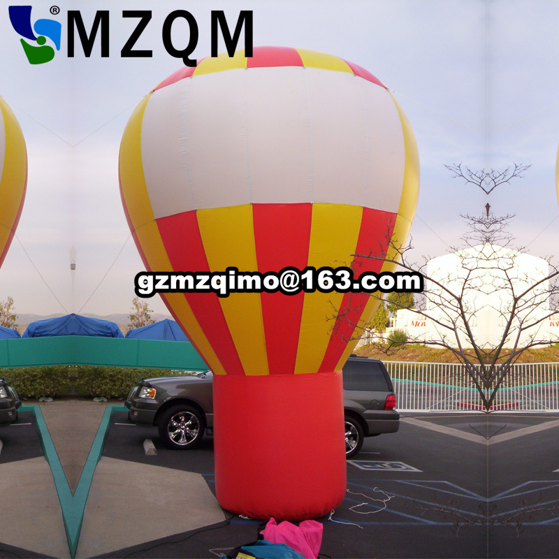 advertising rooftop standing hot air balloon model standing Inflatable hot air balloon shape/ inflatable roof balloon