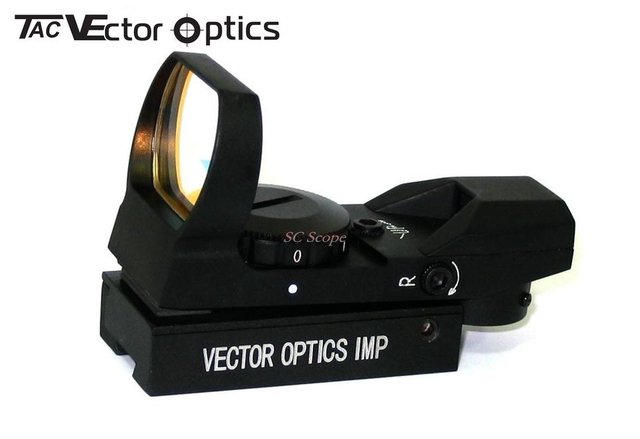 Free Shipping Vector Optics 1x23x34 Multi Reticle Reflex Red Dot Scope Gun Sight with 11mm Dovetail Mount Base