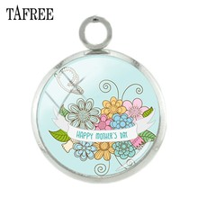 TAFREE DIY Handmade Glass Cabochon 12mm Metal Charms Accessories Thanksgiving gift For Teacher Mom Gifts Charm Jewelry A975(China)