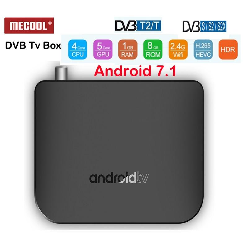 DVB-T2 Android 7.1 Caixa de TV Amlogic M8S PLUS S905D 1G 8G RAM ROM 2.4G WI-FI 4K h.265 DVB-S/DVB-S2/DVB-S2X M8SPlus DVB Media Player