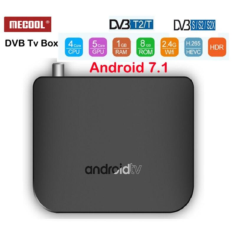 DVB-T2 Android 7.1 TV Box M8S PLUS Amlogic S905D 1G ROM 8G RAM 2.4G WIFI 4K H.265 DVB-S/DVB-S2/DVB-S2X M8SPlus DVB lecteur multimédia