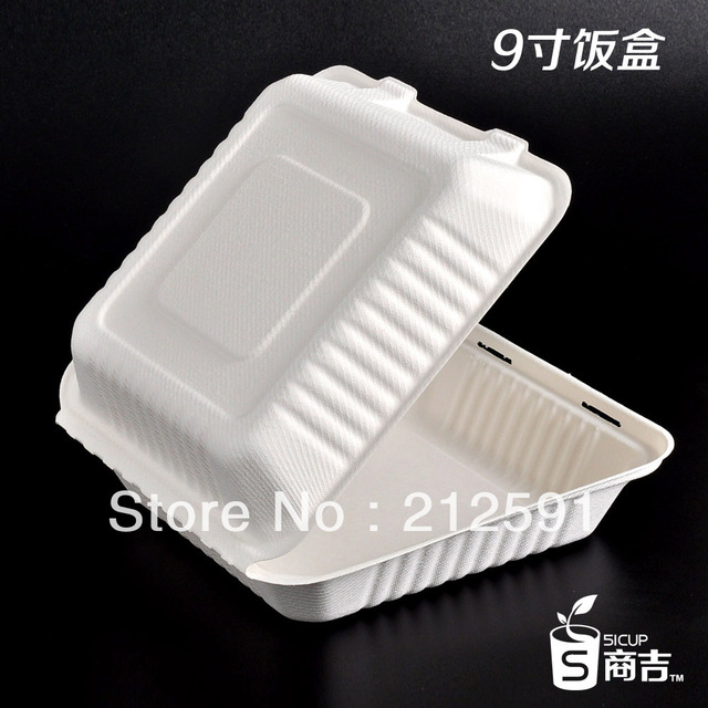 Cheap take out eco friendly paper 9 food packaging meal for Lunch box pas cher