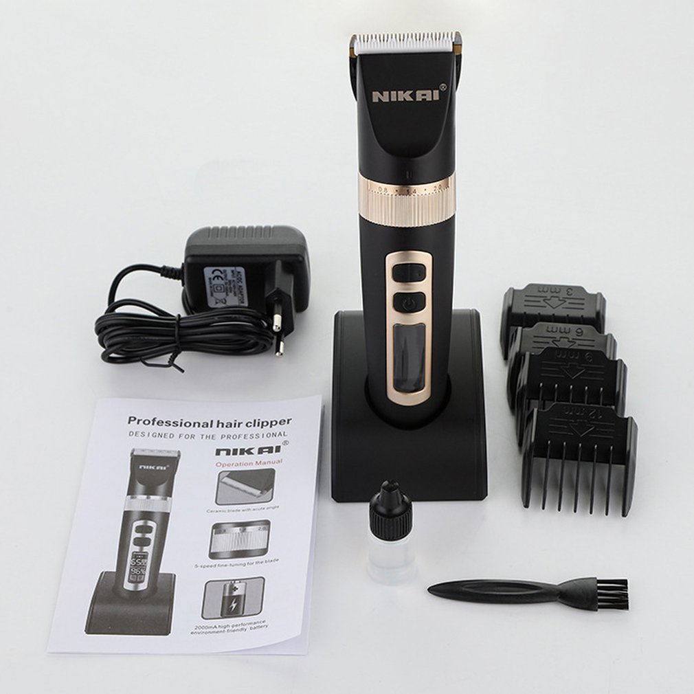 NK-8815 Electric Hair Clipper Rechargeable LCD Display Adjustable Speed Hair Cutter Trimmer Universal Barber Haircut Tool цена
