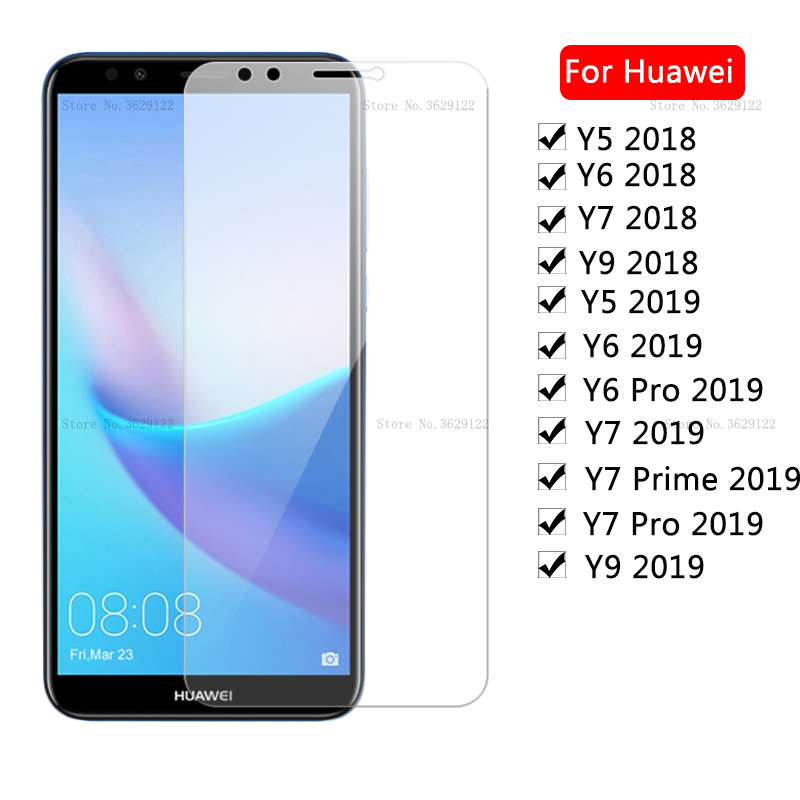Protective <font><b>Glass</b></font> For <font><b>Huawei</b></font> Y5 Y6 Y9 Y7 <font><b>Prime</b></font> <font><b>2018</b></font> Screen Protector For <font><b>Huawei</b></font> Y9 Y7 Pro Y6 2019 <font><b>Tempered</b></font> <font><b>Glass</b></font> <font><b>Y</b></font> 5 <font><b>6</b></font> 7 9 Film image